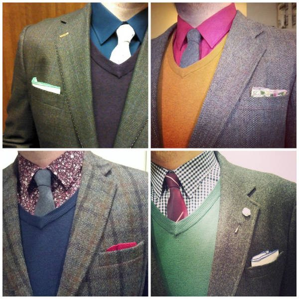 Dapper looks with sweaters and ties