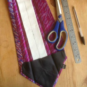 fat tie made slim by hand