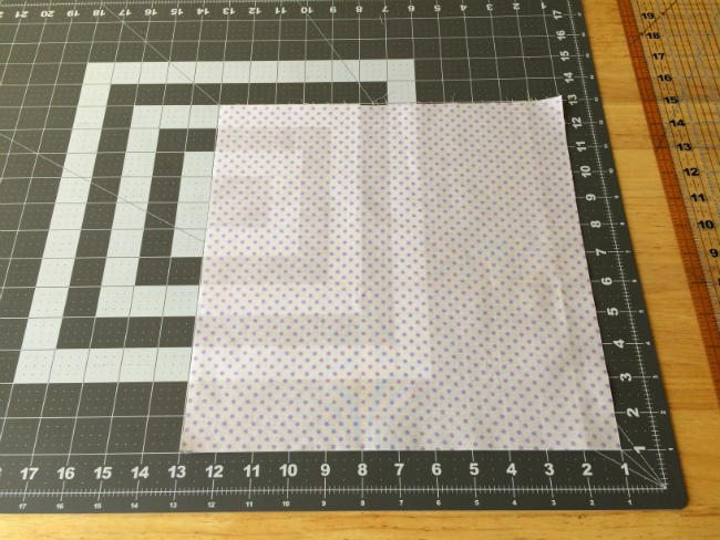 Square piece for fabric cut