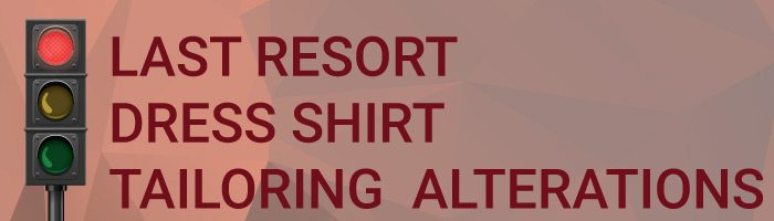 Difficult Dress Shirt Tailoring Alterations Graphic