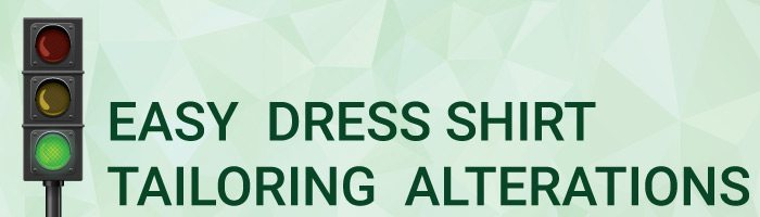 Easy Dress Shirt Tailoring Alterations Graphic