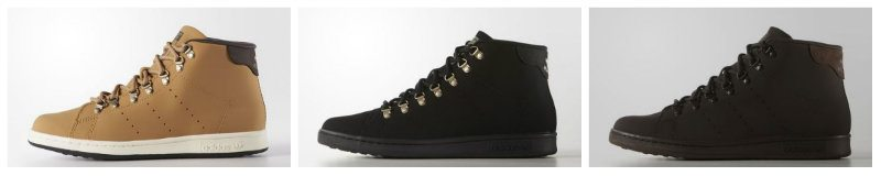 Three Stan Smith Winter Boot Colors