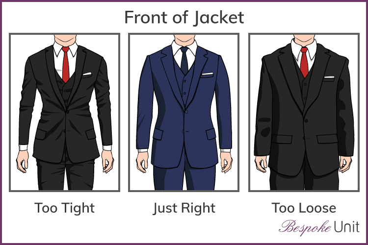 correct front of suit jacket fit