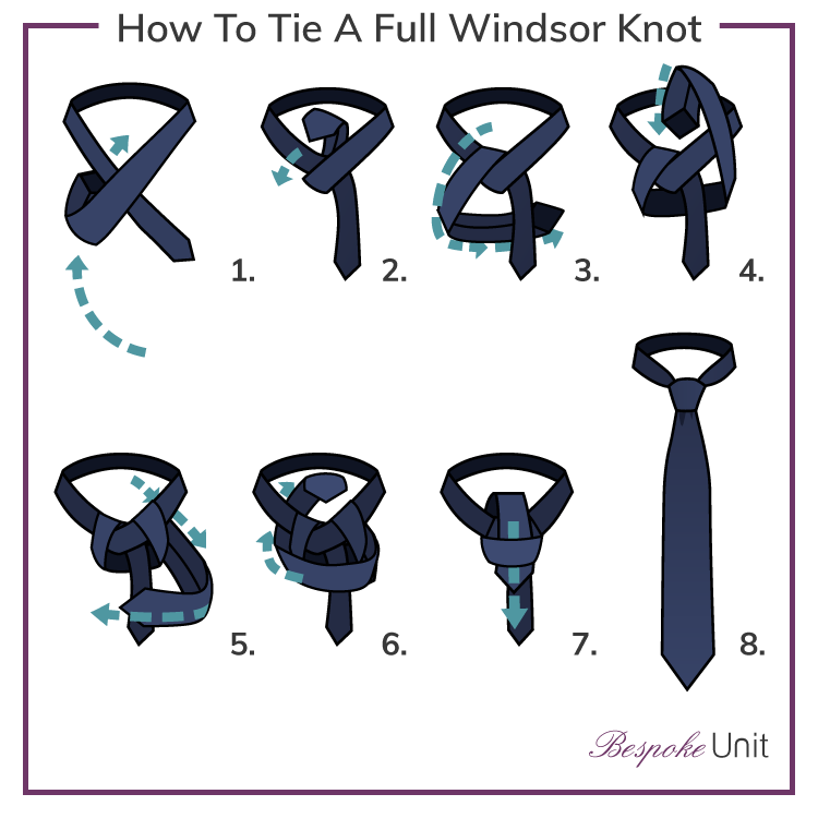 How to tie a tie 1 guide with step by step instructions for knot how to tie a full windsor knot ccuart