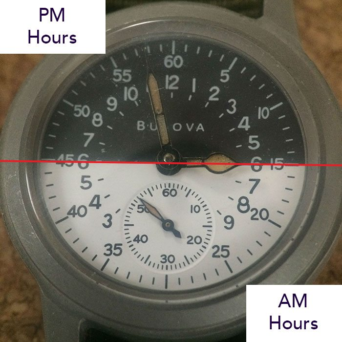 AM PM 24-hour dial
