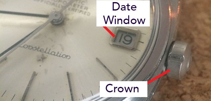 Crown and Date Window