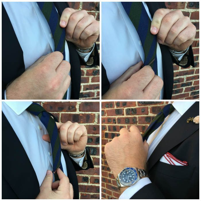 Using Tie Clip To Adjust Tie Length