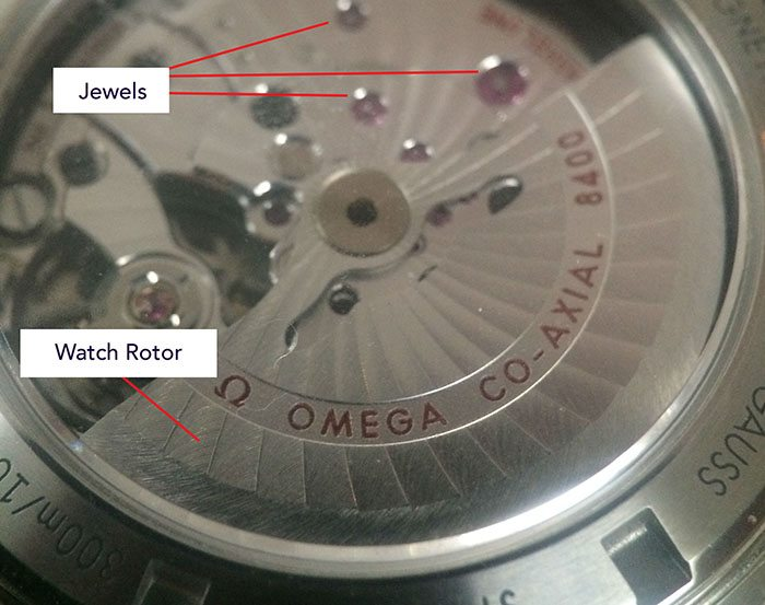 watch rotor and jewels