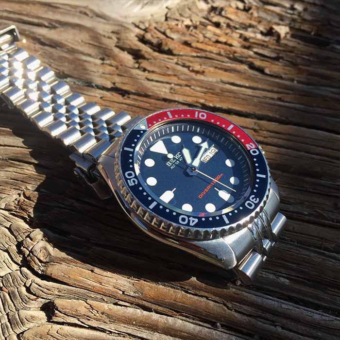 Image result for seiko red and blue watch