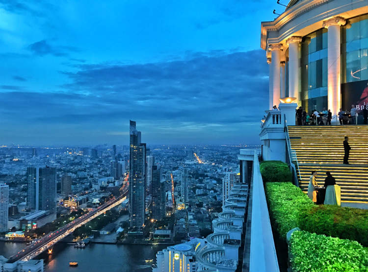 View From Sky Bar Bangkok Rooftop