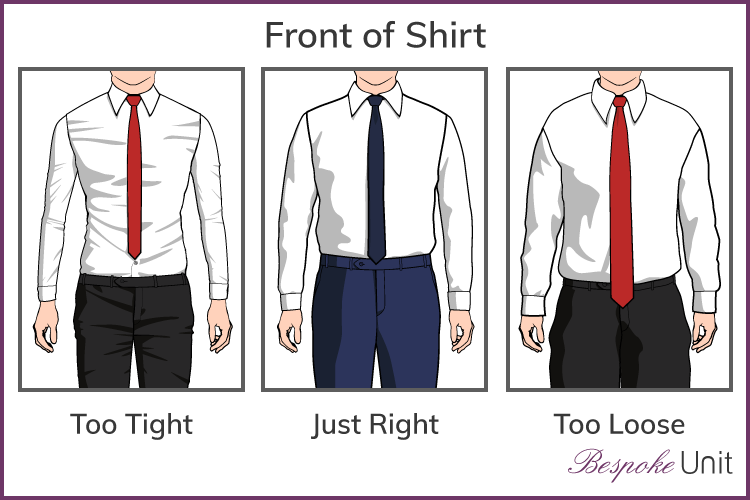 How a shirt should fit graphics