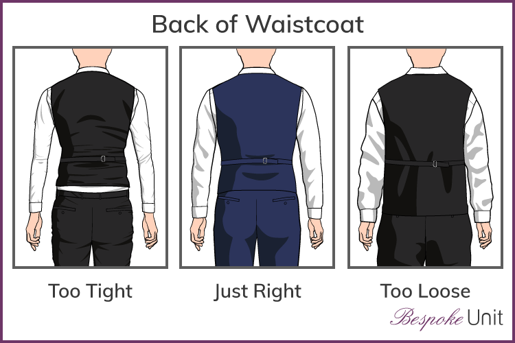 proper fit for back of waistcoat graphic
