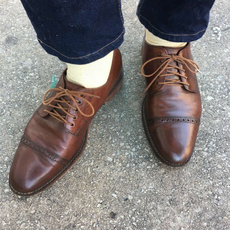 Brown Quarter Brogues With jeans