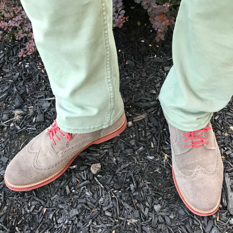 Grey Brogues With Mint trousers