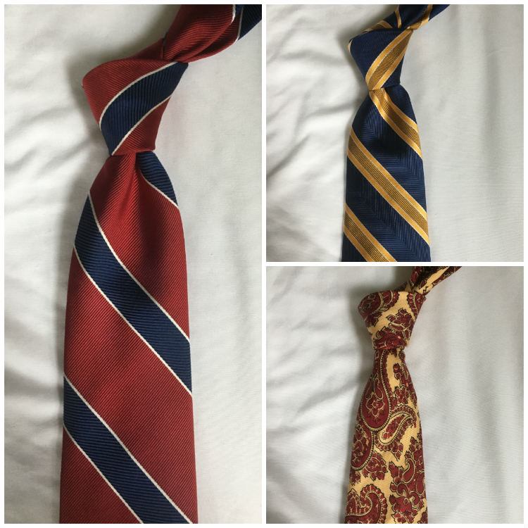 Three Ties In Primary Colors