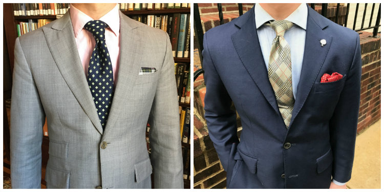 Grey And Blue Suit Jackets