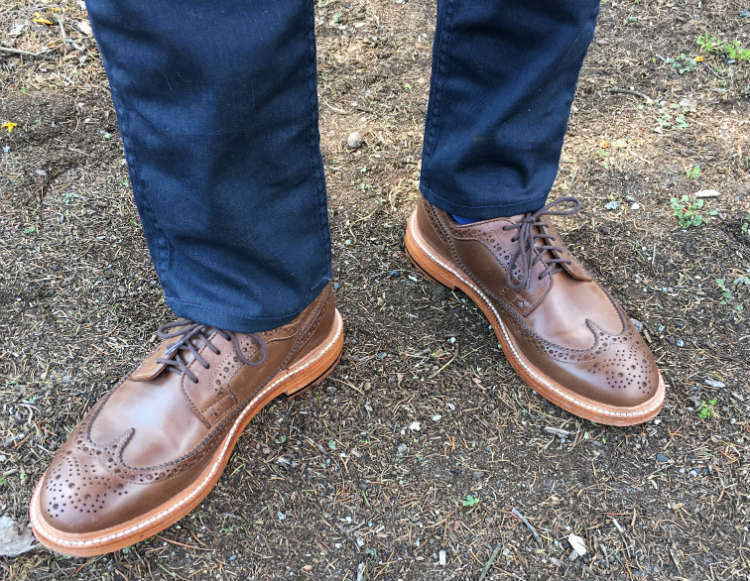Tan Brogues With Blue Jeans