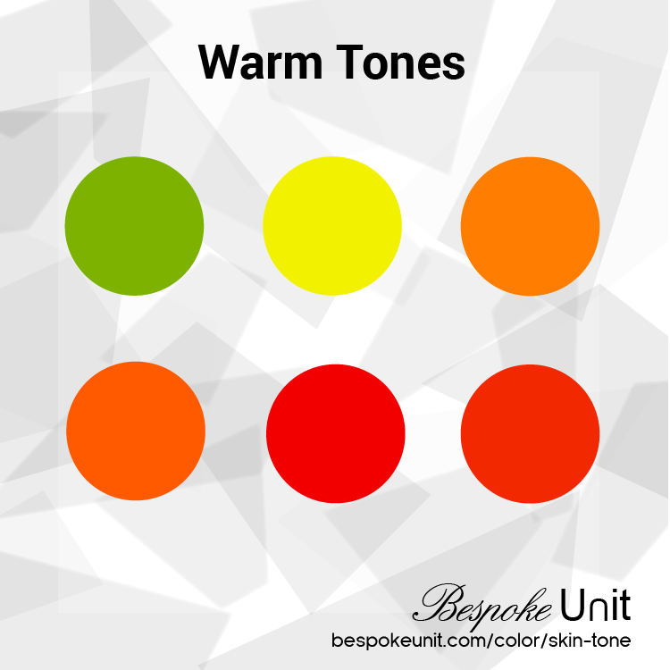 Warm Colors Showed In Six Dots