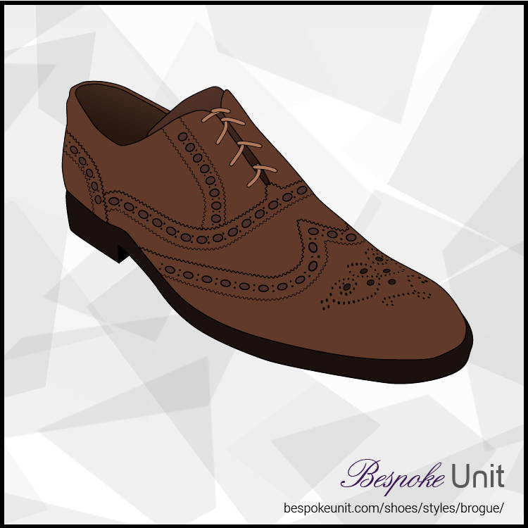 Illustration Of Brown Full Brogue