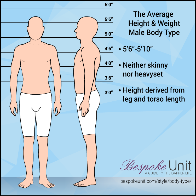 Average Height And Weight Male Body Type