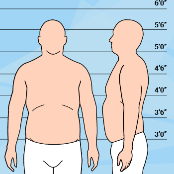 Average Height Heavyset Man Graphic