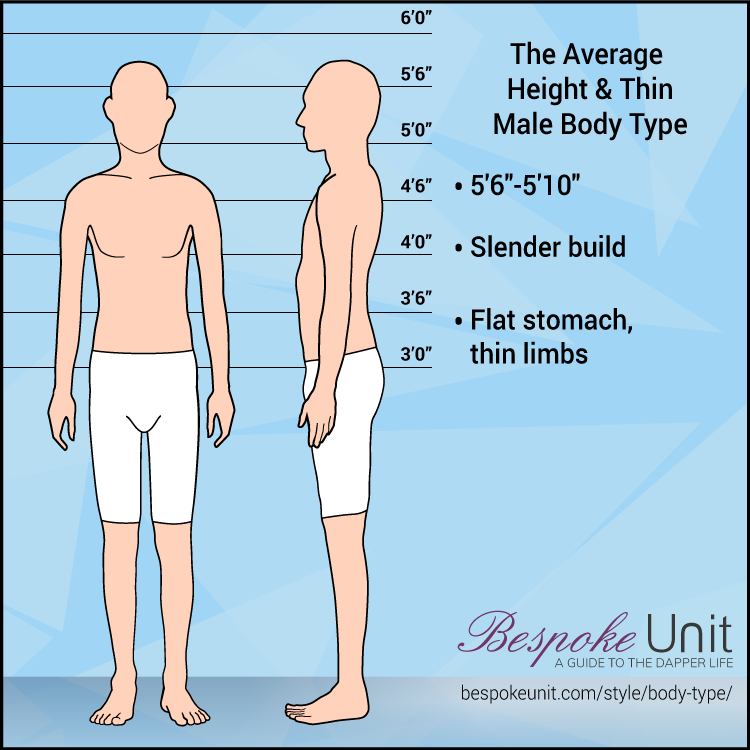 Slender body type man