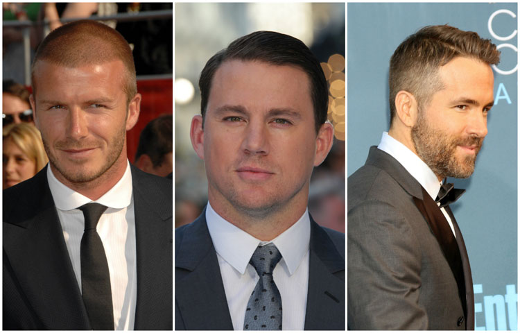 Celebrity Men's Short Length Hairstyle Ideas Beckham Channing Reynolds