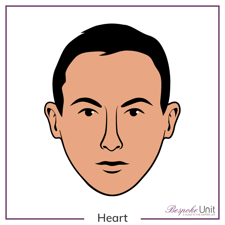 Graphic of a man's heart face shape
