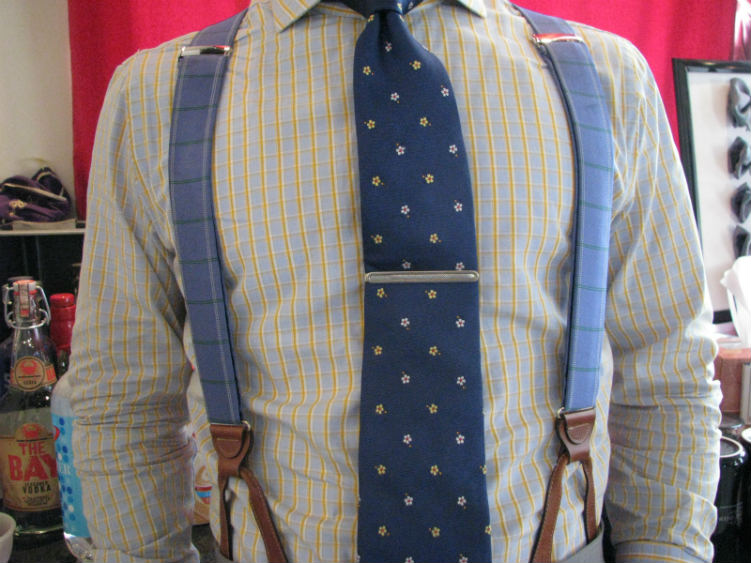Man In Blue Suspenders