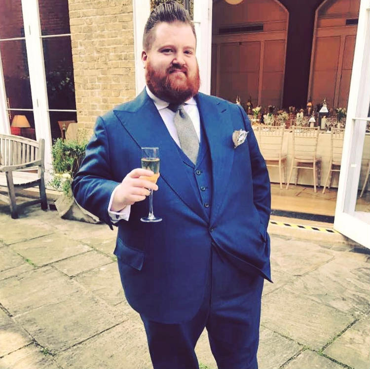 Man in Blue 3 Piece Suit