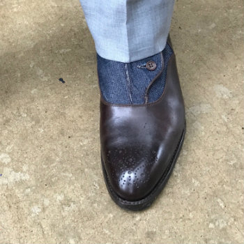 Medallion On Brown Brogue Boot