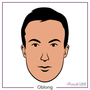 What is a man's oblong face shape graphic