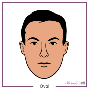 Bespoke Unit's graphic of a man's oval face shape
