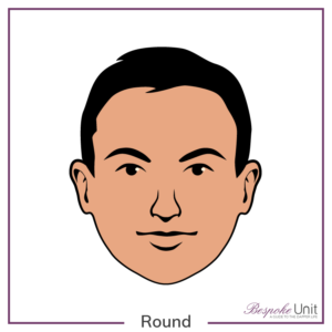 Bespoke Unit's graphic of a man's round face shape