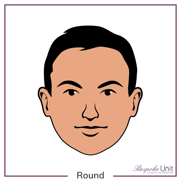 graphic of a man's round face shape
