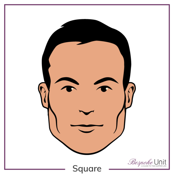 2e91892e6ed Bespoke Unit s graphic of a man s square face shape