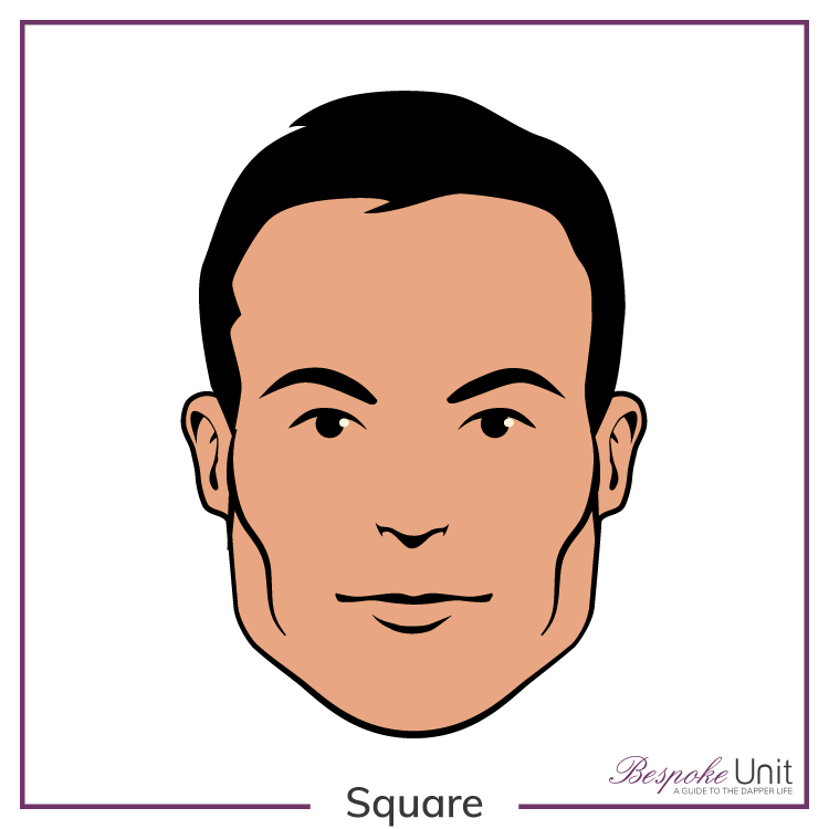 Bespoke Unit's graphic of a man's square face shape