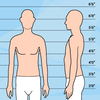 Graphic Of Tall Thin Man