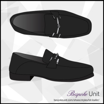 Top And Side View Of Black Bit Loafer