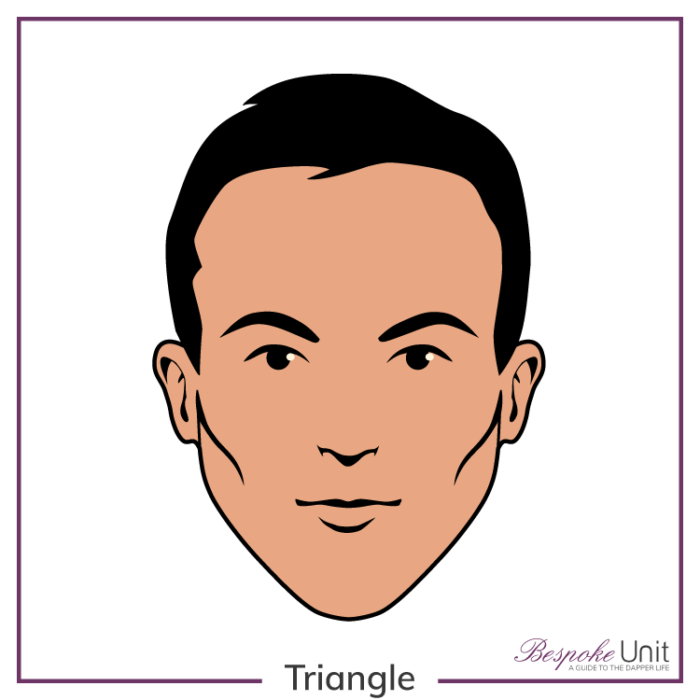 Triangle Face Shape Guide Best Haircuts Beard Styles For Men