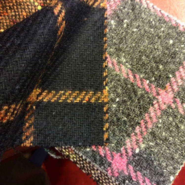 Different Color Plaid Wool Fabrics