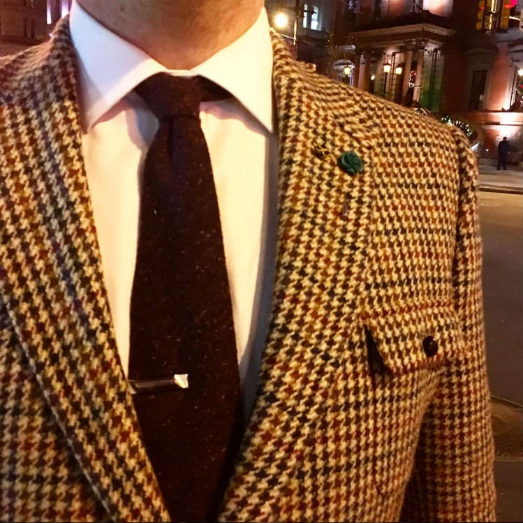 Man In Houndstooth Jacket And Tie