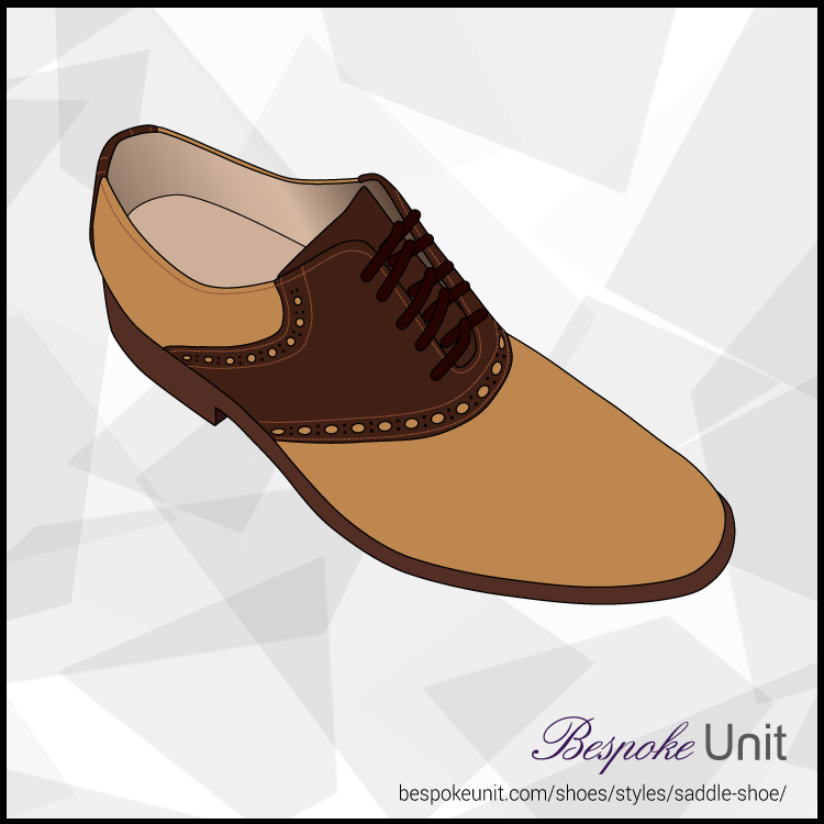 Tan And Brown Saddle Shoe