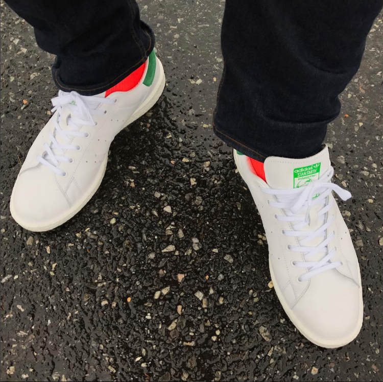 White STan Smith Sneakers With Jeans