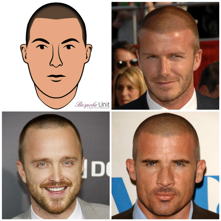 Celebrity Buzz Cut Stubble Ideas Beckham Aaron Paul Purcell