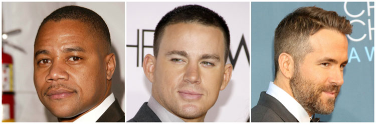 Celebrity Crew Cut Fade Ideas Cuba Gooding Channing Reynolds