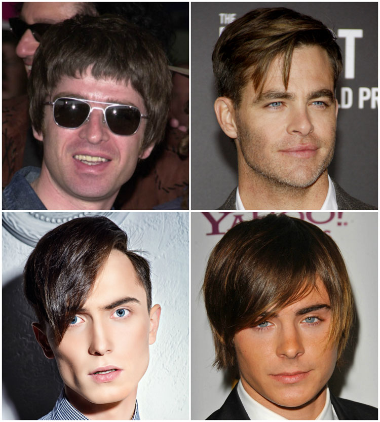 Mens Fringe Bangs Haircuts Face Shapes How To Style Maintain
