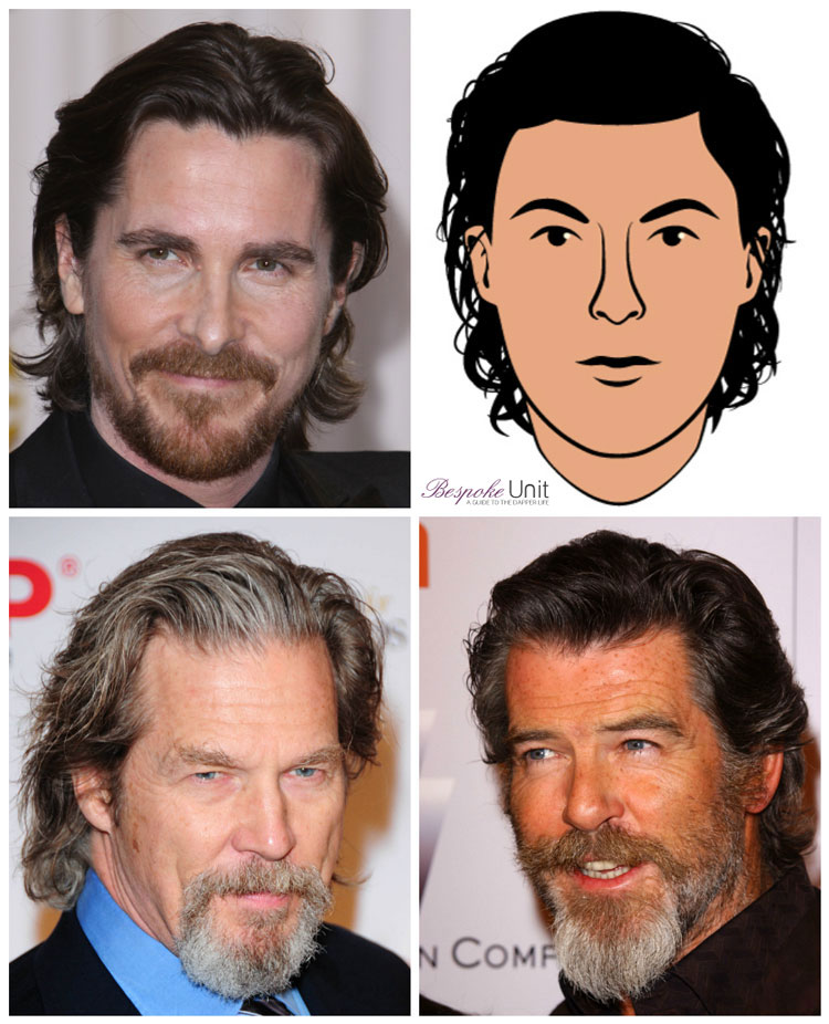 Celebrity Men Long Hair Ideas Brosnan Bridges Christian Bale