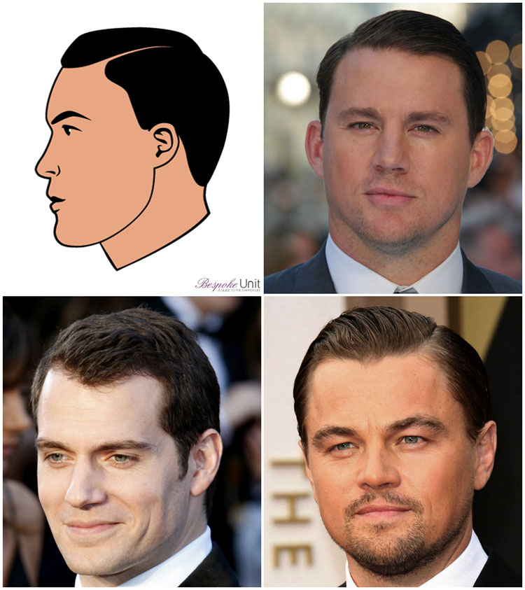 Celebrity Men Side Part Ideas DiCaprio Tatum Cavill