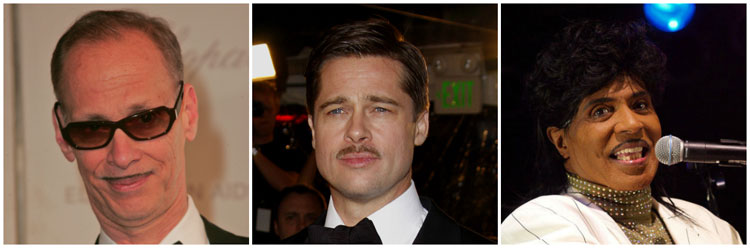 Celebrity Pencil Moustache Ideas Brad Pitt John Walters Little Richard